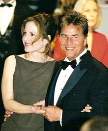 Johnson and wife Kelly Phleger at the 1998 Cannes Film Festival