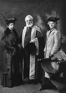 Bell, an alumnus of the University of Edinburgh, Scotland, receiving an honorary Doctor of Laws degree (LL.D.) at the university in 1906.