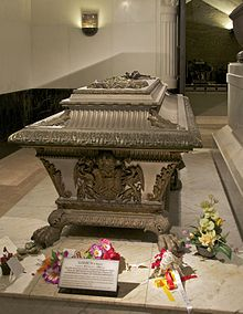 Empress Elisabeth's tomb next to that of her husband Franz Joseph in Vienna's Imperial Crypt, on the other side of Franz Josef's tomb is that of their son, Crown Prince Rudolf