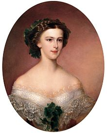The young Elisabeth shortly after becoming Austrian Empress (by Amanda Bergstedt, 1855)