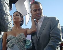 Longoria with then-husband Tony Parker at the 2008 Emmy Awards.