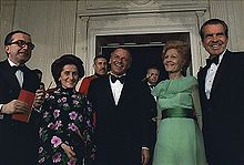 Frank Sinatra, with Giulio Andreotti (left), President Richard Nixon and First Lady Pat Nixon at the White House, 1973