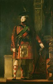 Painting of George IV by Sir David Wilkie (1829) depicting the king during his 1822 trip to Scotland.