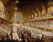 The coronation banquet for George IV was held at Westminster Hall on 19 July 1821.
