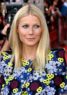 Paltrow in Paris at the French premiere of Iron Man 3, April 2013.