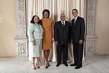 President Zuma with Barack Obama and Michelle Obama in New York, 2009