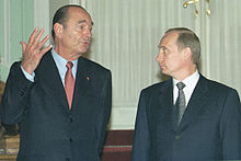 Chirac with then-Russian President Vladimir Putin in 2001