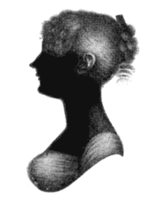 Silhouette of Cassandra Austen, Jane's sister and closest friend