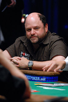 Alexander playing at Annie Duke's charity event in the 2009 World Series of Poker