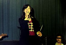 Linda Gail Lewis, touring with her brother, in 1977, in Ludwigshafen, Germany