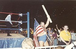 Duggan in a WWF event.