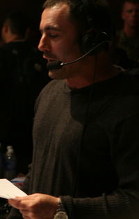 Joe Rogan during the UFC Ultimate Fight Night 7 broadcast