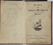 First edition of The Sorrows of Young Werther