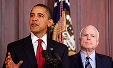 McCain and President Obama in a press conference in 2009