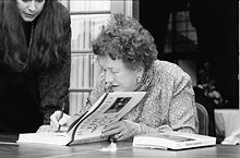 Julia Child at the Miami Book Fair International of 1989
