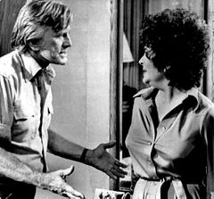 with Elizabeth Taylor in Victory at Entebbe (1976)