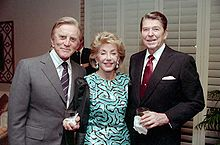 The Douglases with President Ronald Reagan, December 1987