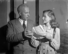 Howard Hawks and Bacall in 1943