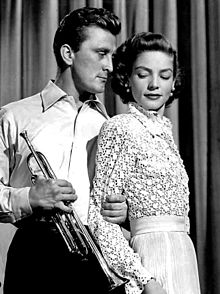 with Kirk Douglas in Young Man with a Horn (1950)