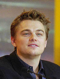 DiCaprio at a press conference for The Beach in February 2000.