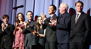 The cast of Inception at the July 10 premiere in 2010.