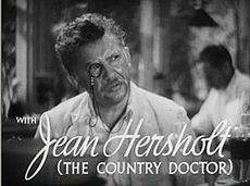Nielsen's half-uncle Jean Hersholt (pictured here in the 1936 film His Brother's Wife) inspired him to become an actor.