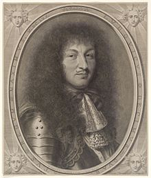 Louis XIV in 1670, engraved portrait by Robert Nanteuil