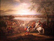 Louis XIV crosses the Rhine at Lobith on 12 June 1672; Deutsches Historisches Museum Berlin