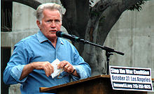 Martin Sheen at an anti-war protest in October 2007