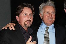 Sheen (right) with son Emilio Estevez in February 2011