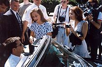 Perry departing rehearsal for the 1995 Emmy Awards.
