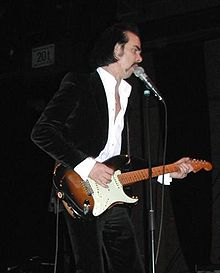 Nick Cave at a solo concert in Mainz, Germany on 11 November 2006.