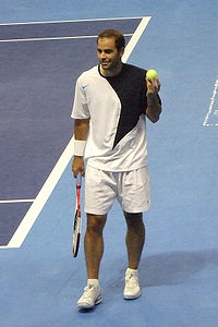 Pete Sampras at Champions Cup Boston, in 2007.