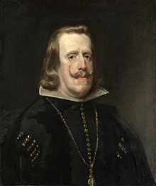 An older Philip IV, painted in 1656 by Diego Velázquez.