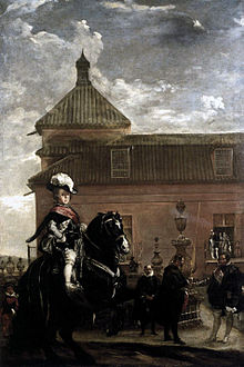 Prince Baltasar Carlos with the Count-Duke of Olivares outside the Buen Retiro palace, by Diego Velázquez, 1636.