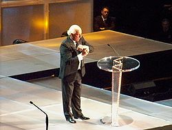 Flair at the 2008 WWE Hall of Fame ceremony.
