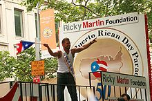 Ricky Martin at a Puerto Rican Day annual parade in New York City