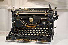 An Underwood typewriter, such as Howard used to write his poetry and fiction.