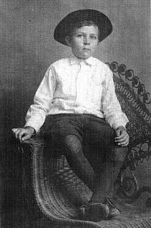 Robert E. Howard at about five years old (circa 1911).
