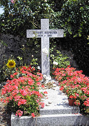 Grave of Audrey Hepburn in Tolochenaz, Switzerland