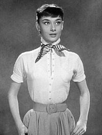 Hepburn in a screen test for Roman Holiday (1953) which was also used as promotional material.