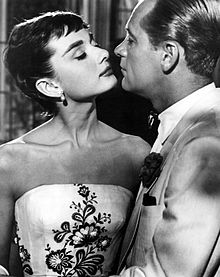 Hepburn with William Holden in the film Sabrina (1954)