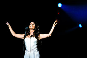 "Sarah Brightman performing in ""Live Earth Concert"" in China (2007)."