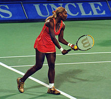 Playing Amélie Mauresmo in the quarterfinals of the tournament in Sydney in 2002