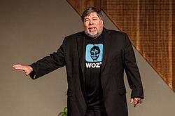 Woz on stage at the Melbourne Convention and Exhibition Centre, Australia, May 16, 2012