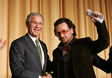 Bono and then U.S. President George W. Bush in 2006