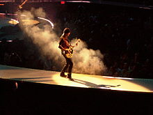 The Edge at a U2 concert in Anaheim (2005)