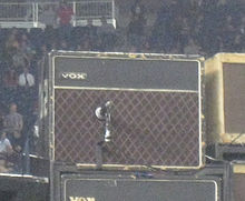 Edge's 1964 Vox AC30 on stage in Foxborough for the U2 360° Tour.
