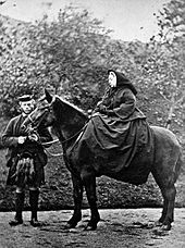 Victoria and John Brown at Balmoral, 1863 Photograph by G. W. Wilson