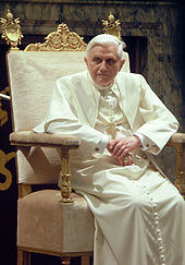 Pope Benedict XVI at a private audience on 20 January 2006